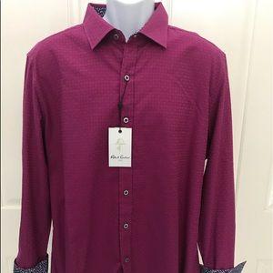 NEW wTag-ROBERT GRAHAM Berry Button Shirt XL